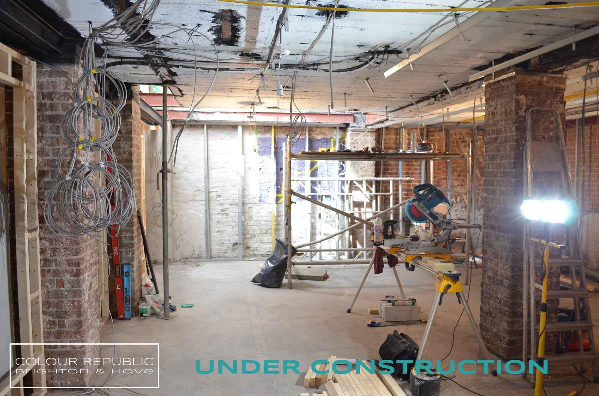 Building works in progress basement