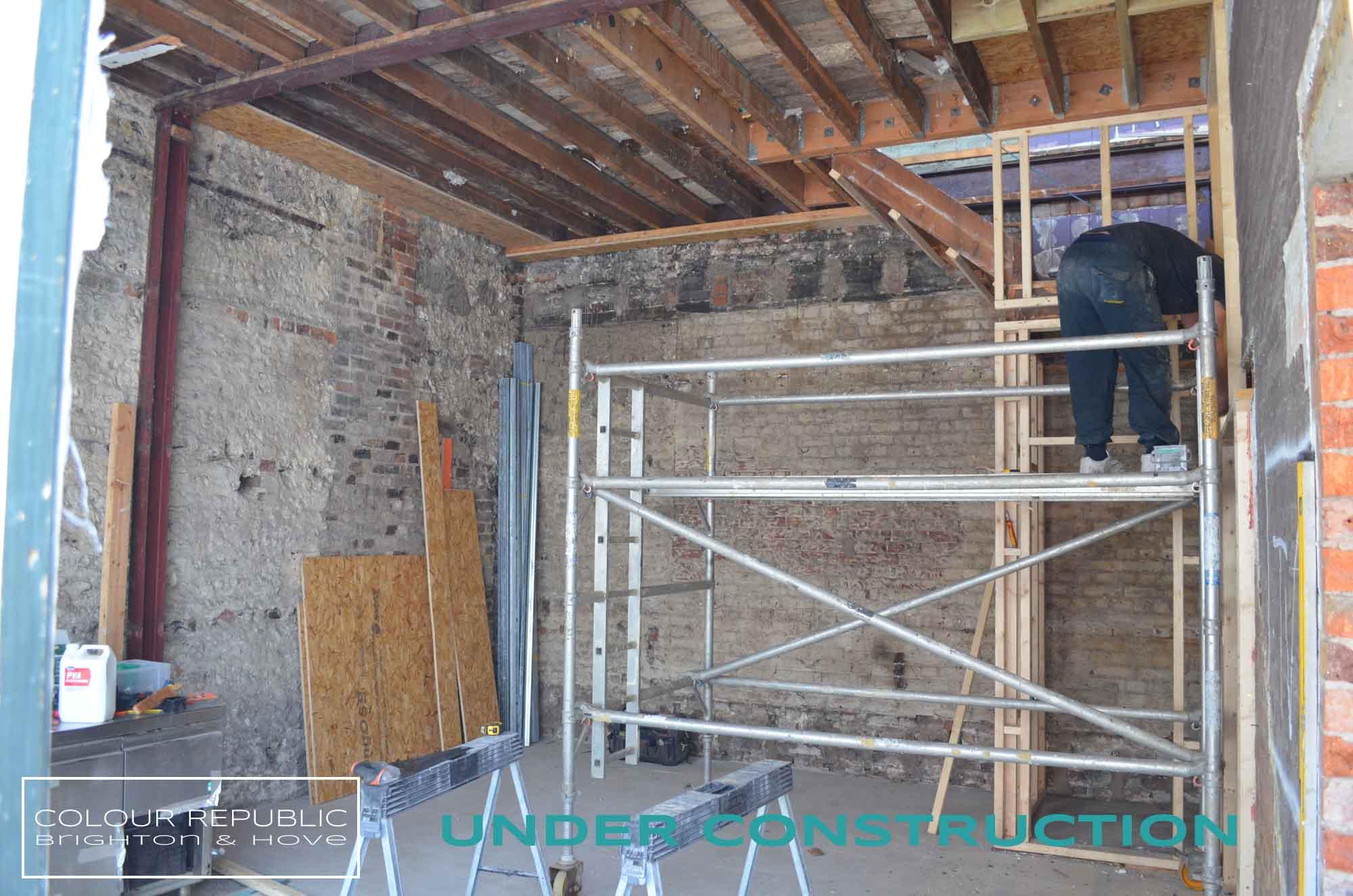 Building works in progress lounge