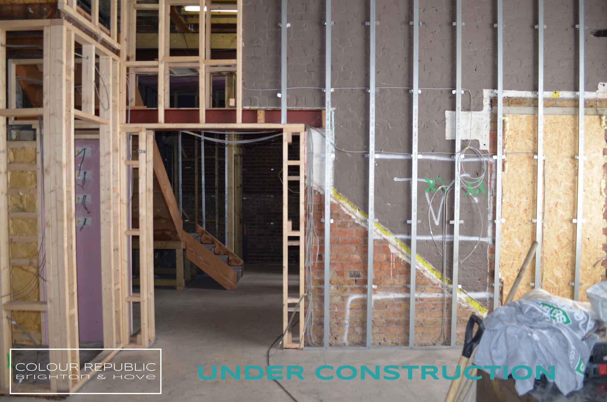 Building works in progress lounge 2